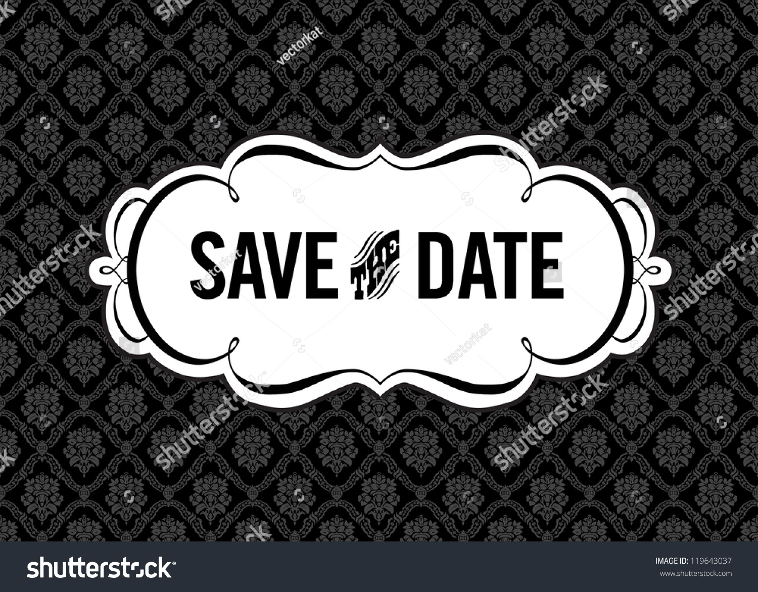 vector save the date ornate frame easy to edit perfect for invitations or announcements