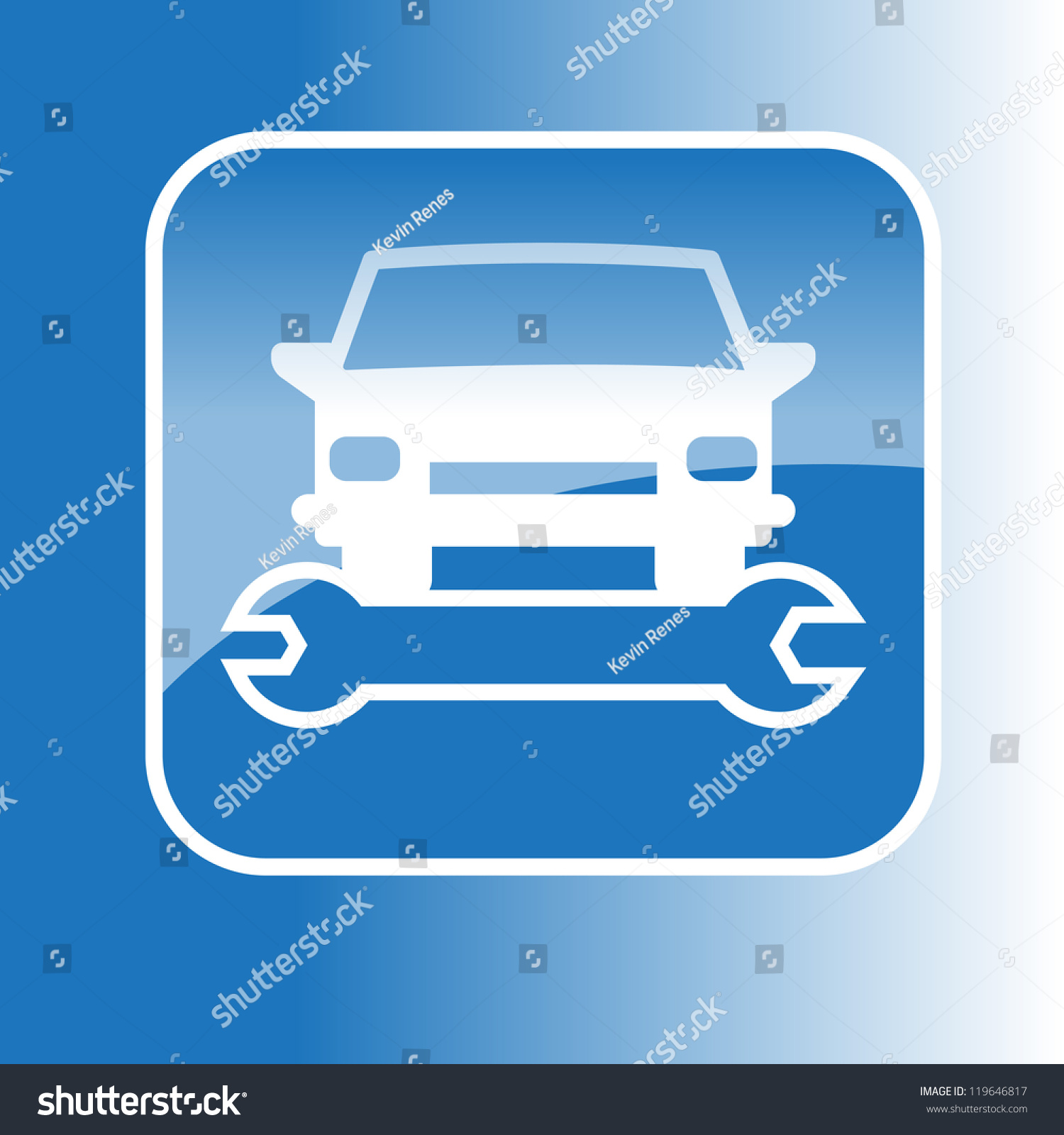 Vector symbol car wrench stock vector 119646817 shutterstock vector symbol of a car and a wrench biocorpaavc Choice Image