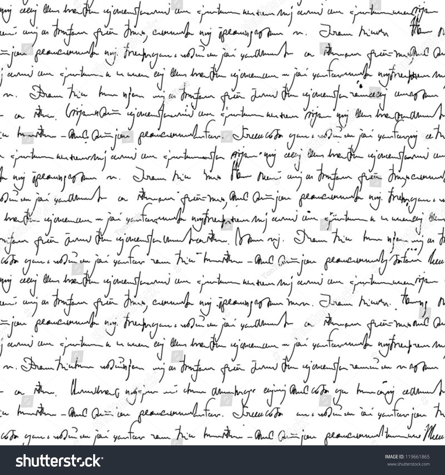 Unreadable handwriting