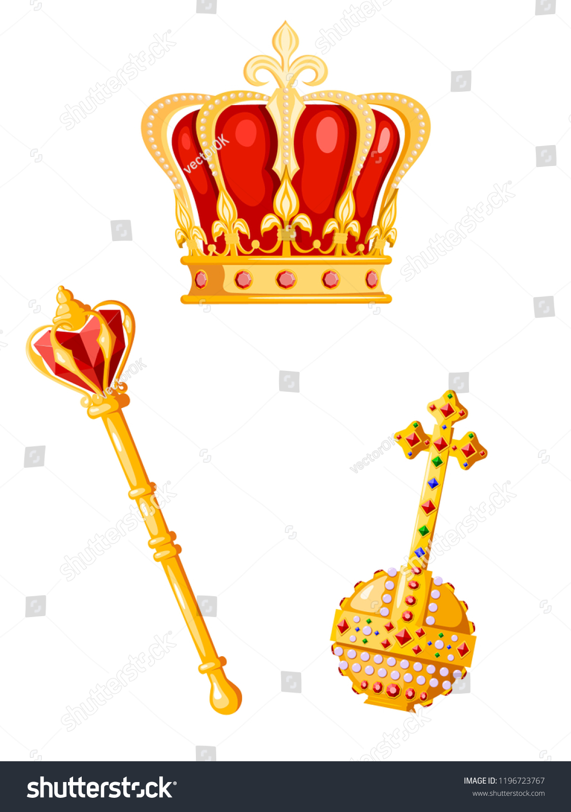 Crown Scepter Orb On White Background Stock Vector Royalty Free 1196723767 The crown is a historical drama streaming television series about the reign of queen elizabeth ii, created and principally written by peter morgan. https www shutterstock com image vector crown scepter orb on white background 1196723767