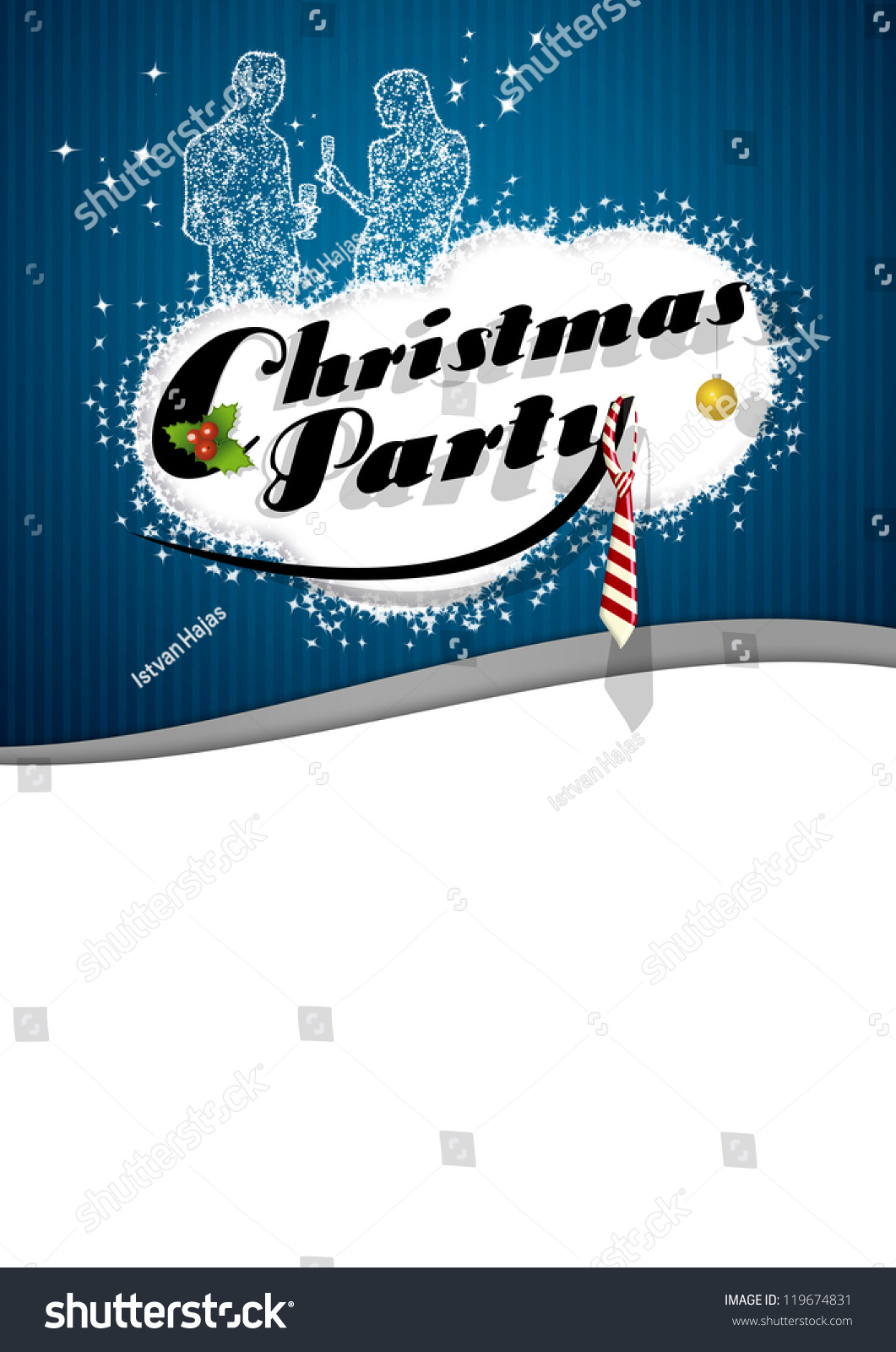 office christmas party poster background space stock illustration office christmas party poster background space