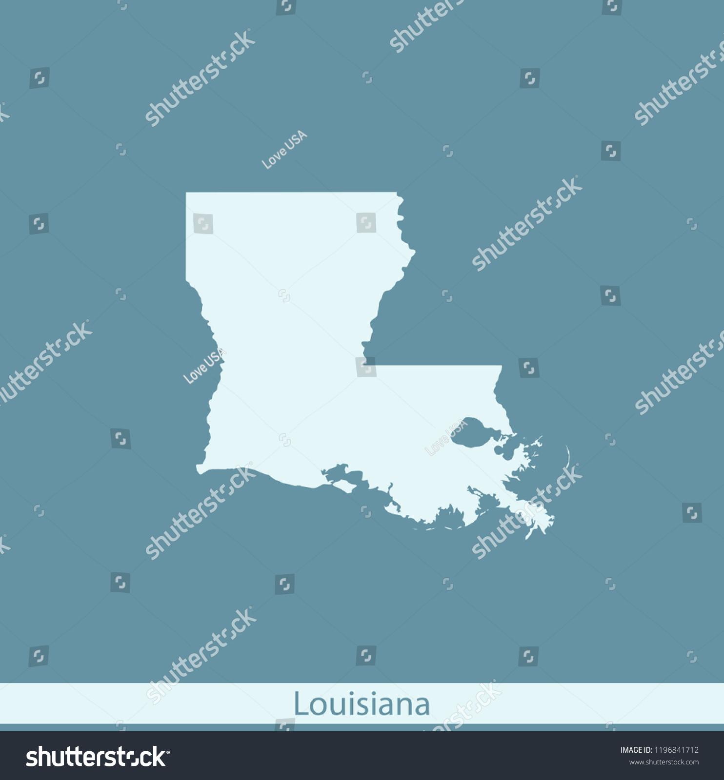 Vector Map Louisiana Stock-Vrgrafik (Lizenzfrei) 1196841712 ... on