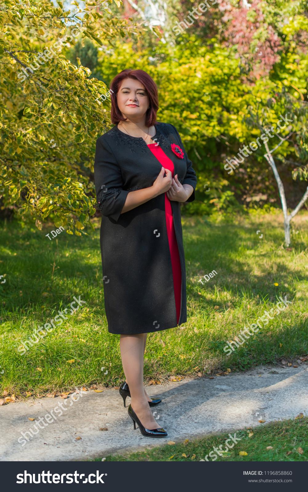 Plus Size Elegant Mature Bussiness Fashionable Stock Photo ...