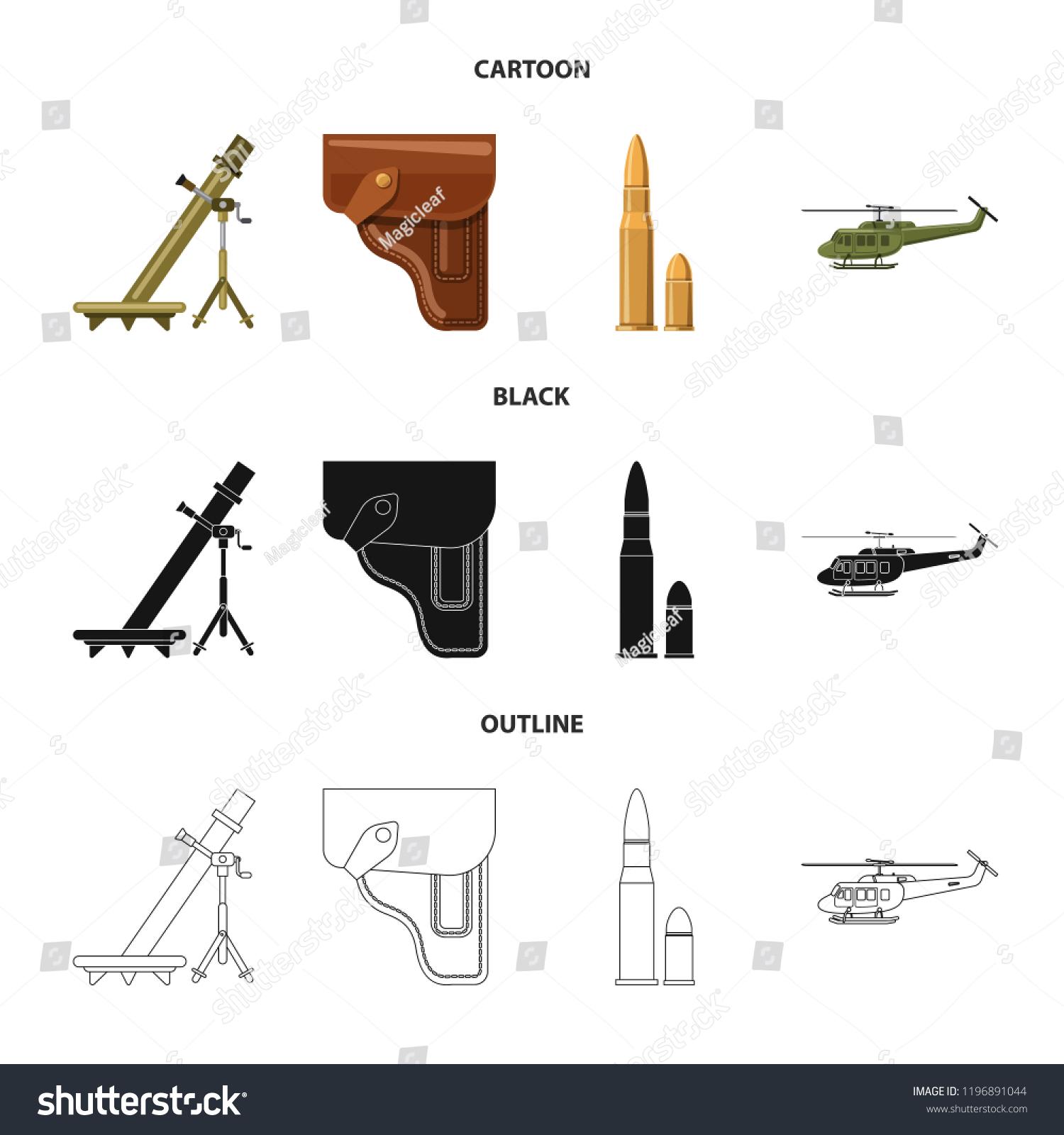 Magic Gun Diagram Automotive Wiring Black Fan Vector Illustration Weapon Symbol Set Stock Royalty Free Rh Shutterstock Com Glyphs Pronunciation Power