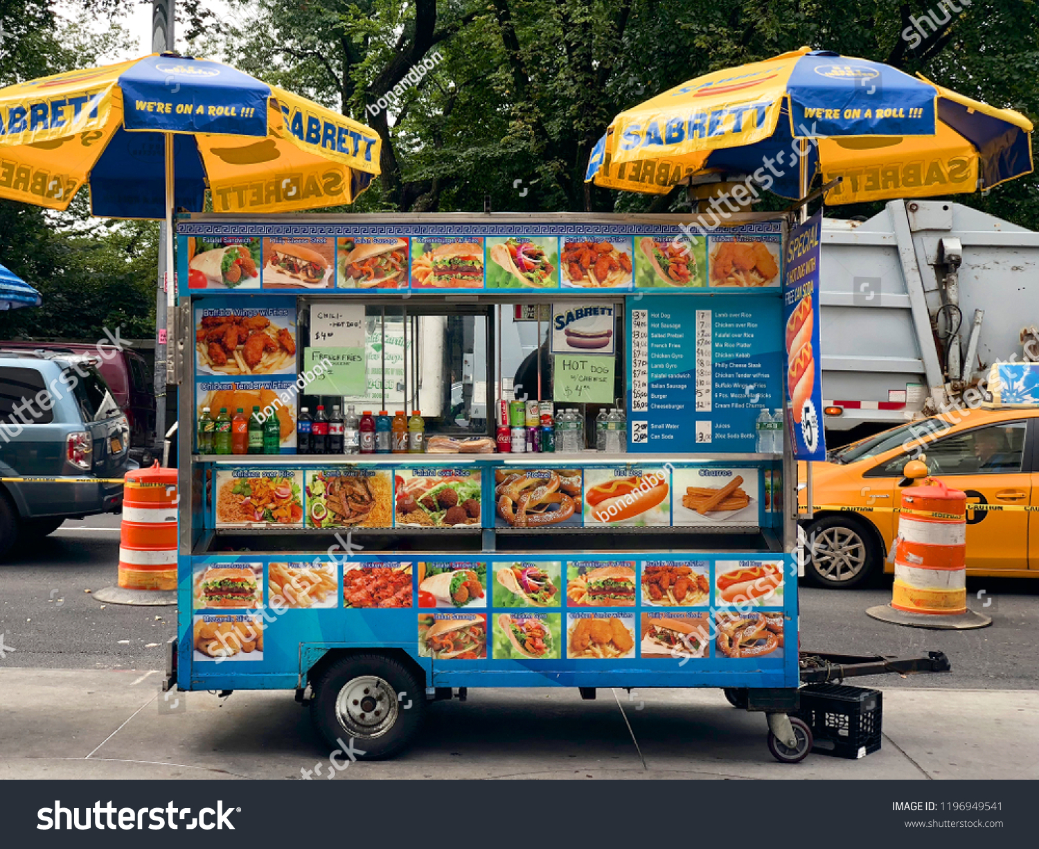 Food Trucks Vendors New York City Stock Photo Edit Now 1196949541