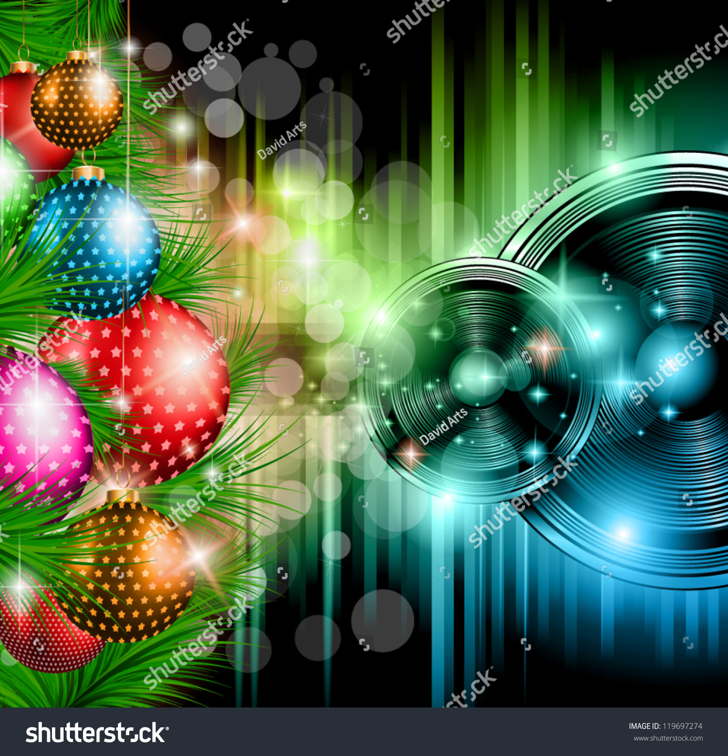 christmas club party background ideal holiday stock vector