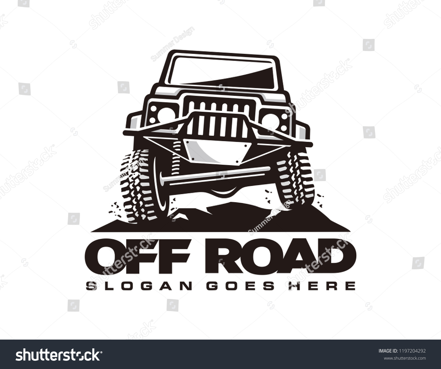 Off Road Car Logo Template Stock Vector Royalty Free 1197204292