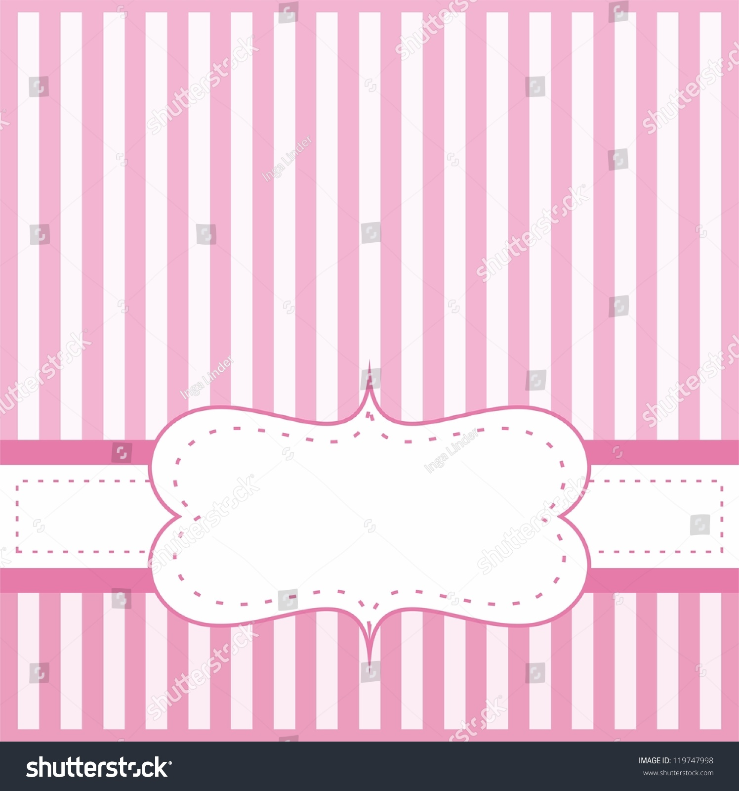Royalty free Pink vector card or invitation for… Stock