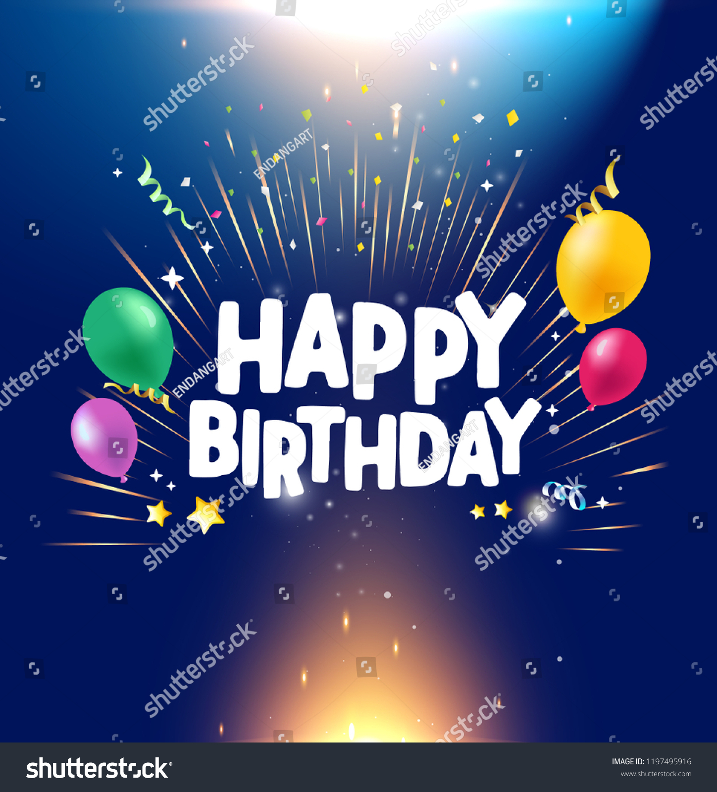 Happy Birthday Greetings Background Stock Vector Royalty Free 1197495916