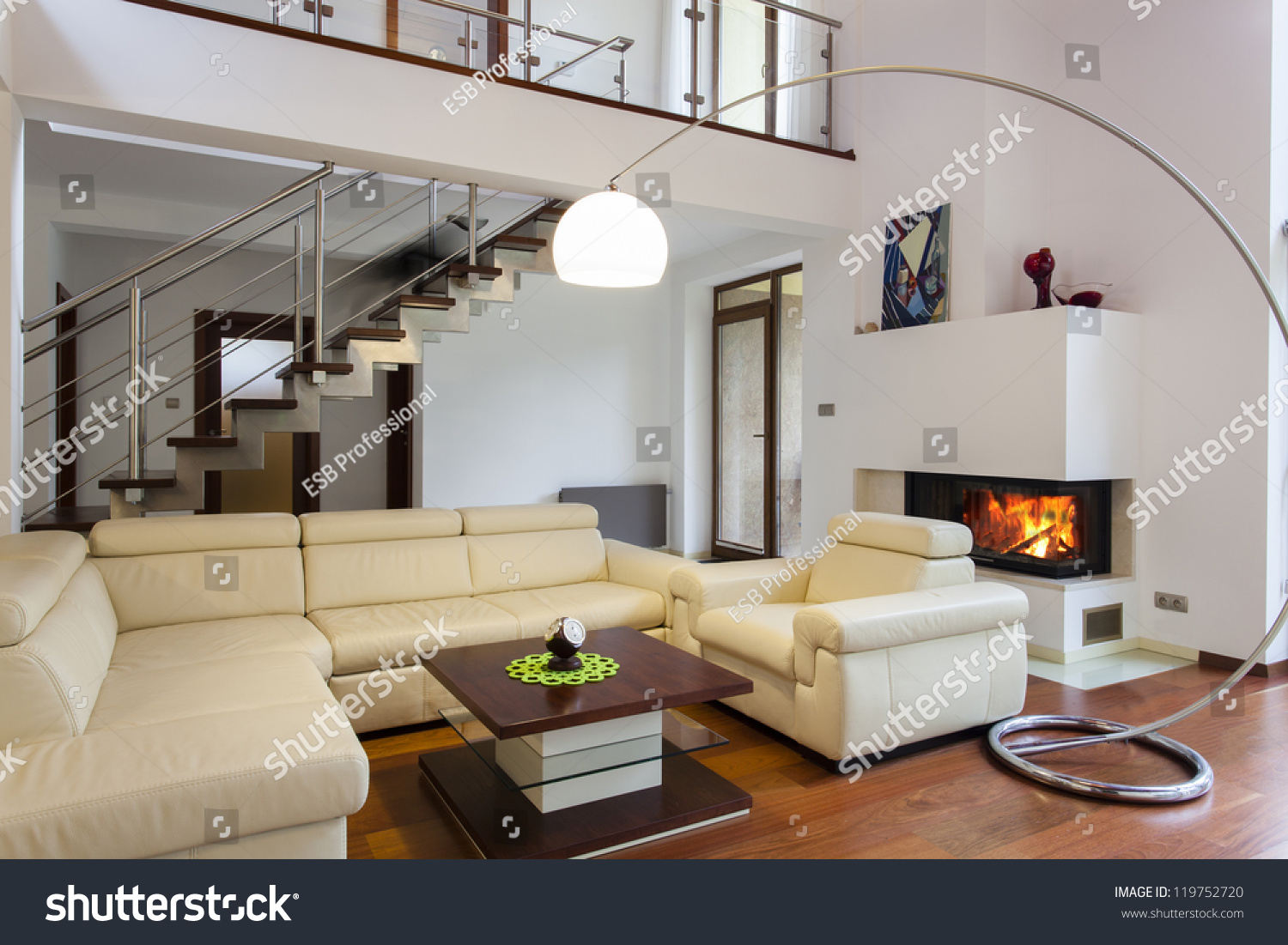 Big Comfortable Living Room Bright Sofa Stock Photo 119752720 ...