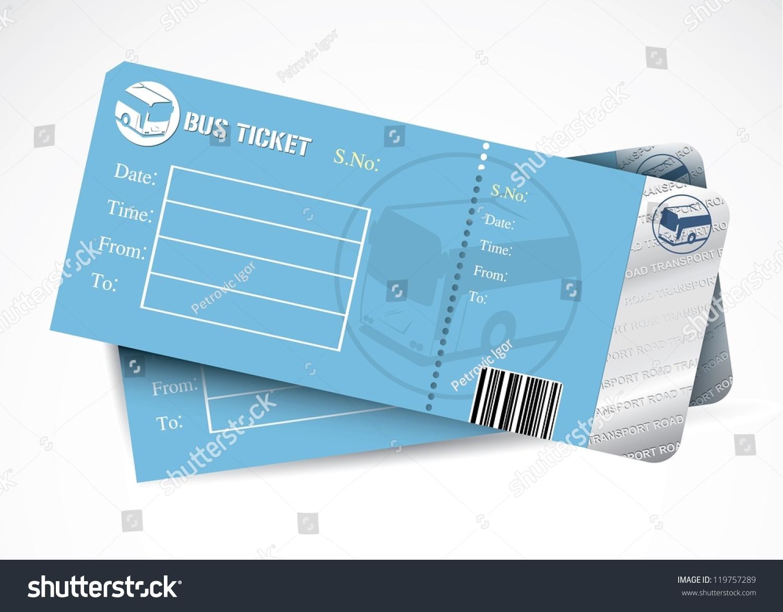 bus tickets vector illustration 119757289 shutterstock