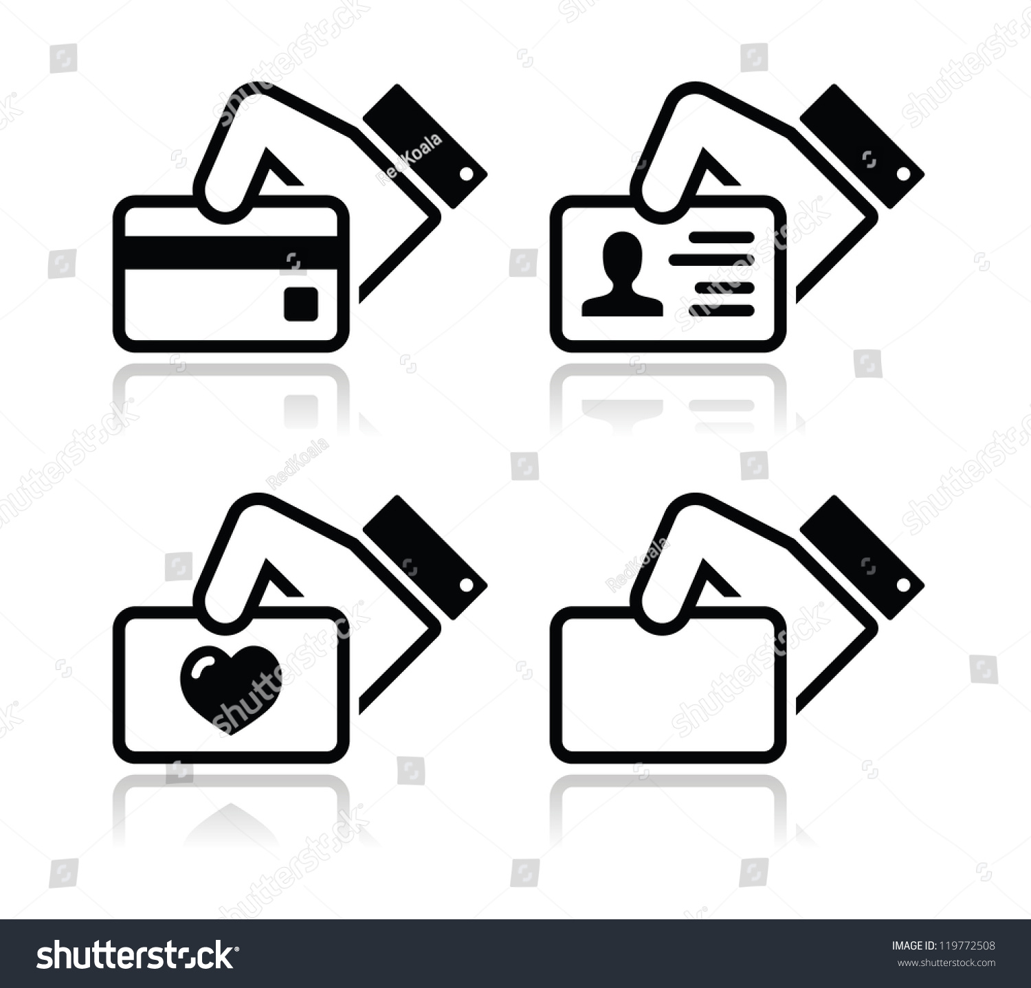 royalty free hand holding credit card business card…