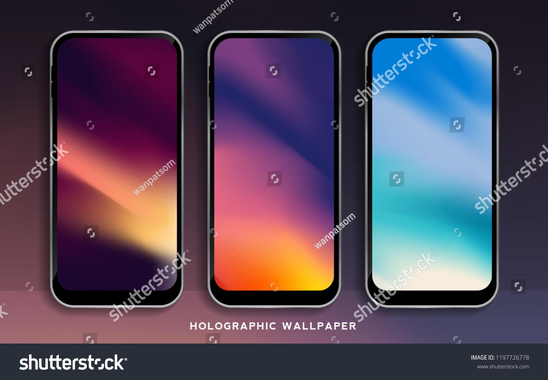 Image Vectorielle De Stock De Abstract Modern Gradients Wallpapers Smartphone Vibrant 1197726778