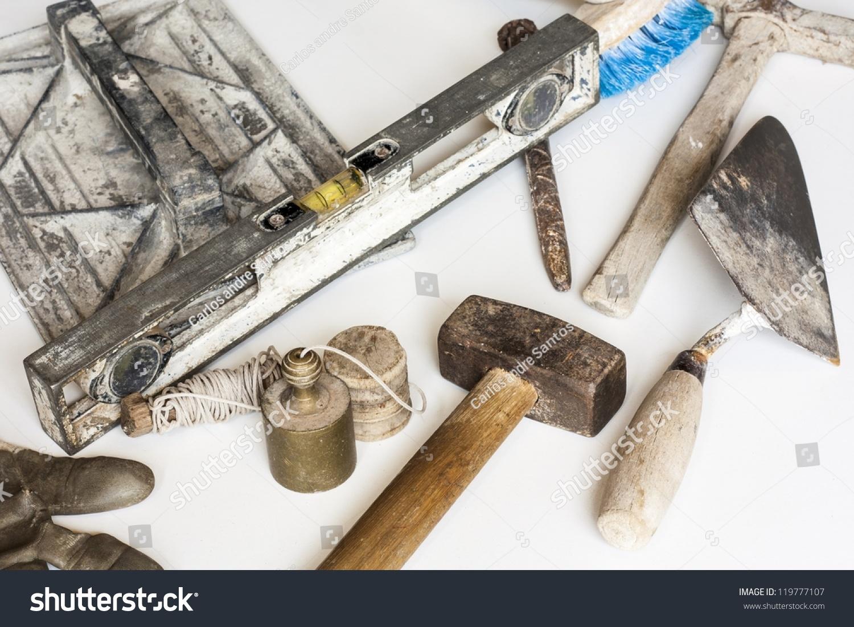 Construction Masonry Cement Mortar Tools On Stock Photo (Edit Now ...