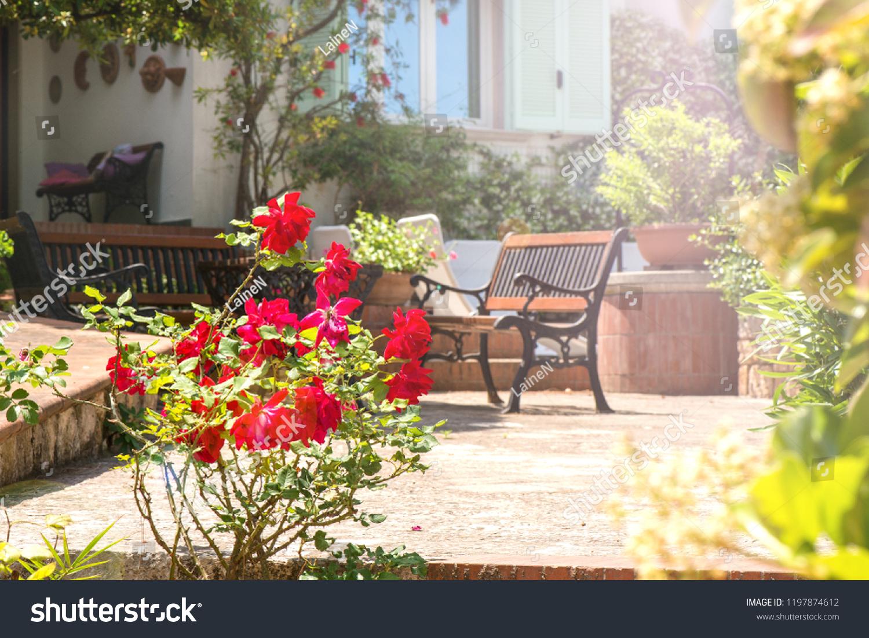Vintage Italian Style Garden Furniture Set Stock Photo Edit Now