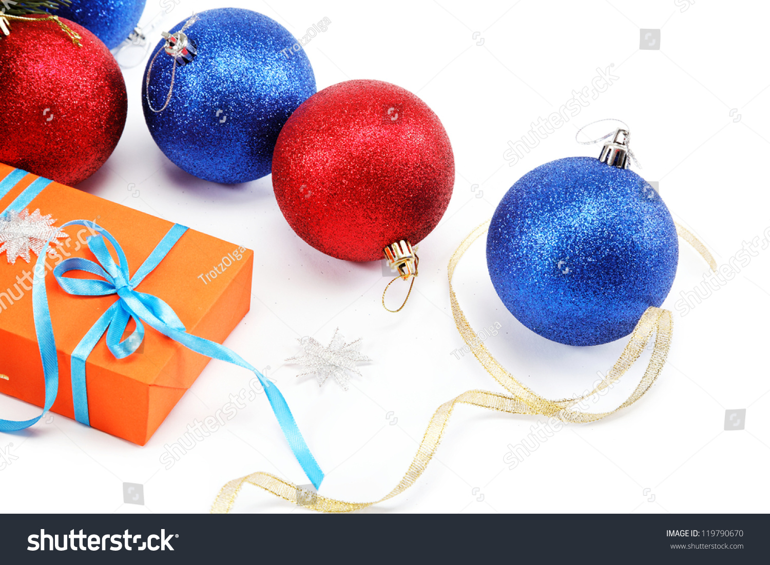 Christmas decorations and gifts on a white background. | EZ Canvas