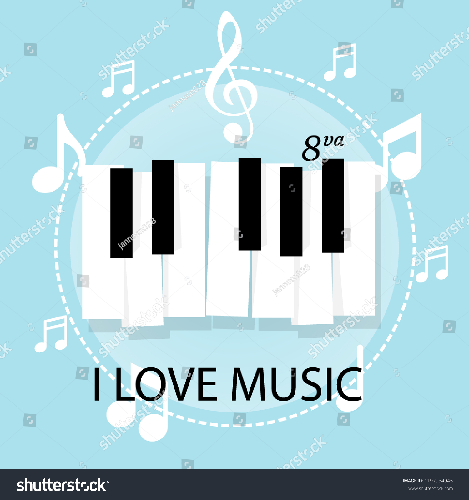 music piano keyboard notes poster background stock vector royalty