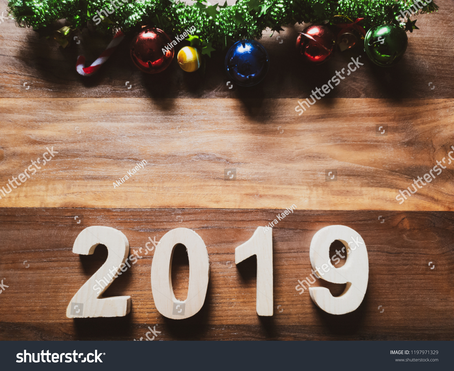 Symbol Christmas Tree Colorful Number 2019 Stock Photo (Edit Now ...