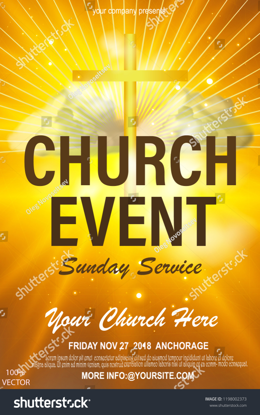 Christian Invitation Poster Template Religious Flyer Stock Vector For Church Invite Cards Template