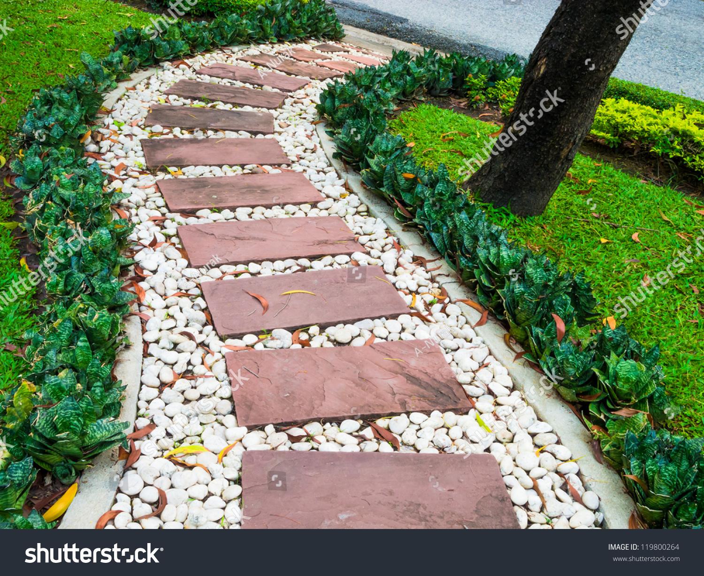 Stone Walkway Garden Stock Photo 119800264 - Shutterstock