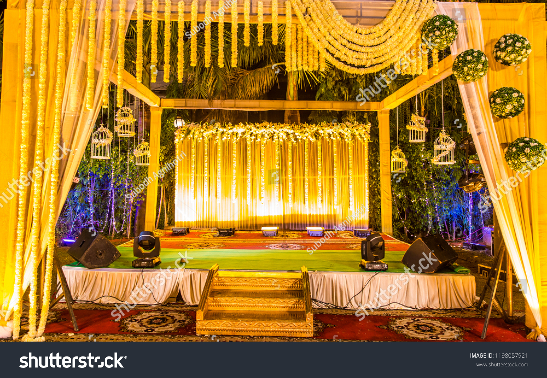 Indian Wedding Stage Indian Wedding Decoration Indian Stock Photo