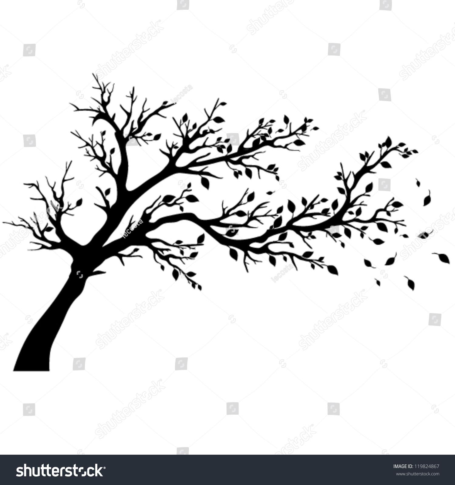 Vector Illustration Tree: Tree Silhouettes Vector Illustration Stock Vector