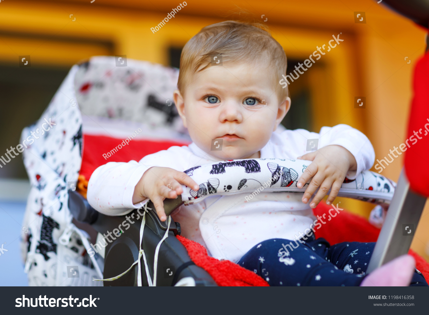 c006a8973 Cute Little Beautiful Baby Girl Sitting Stock Photo (Edit Now ...