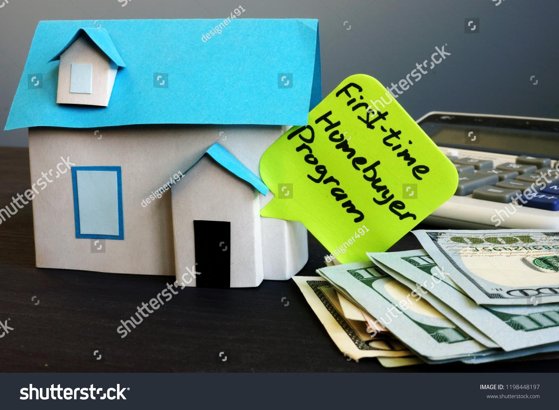 First Time Homebuyer Program Model House Stock Photo (Edit