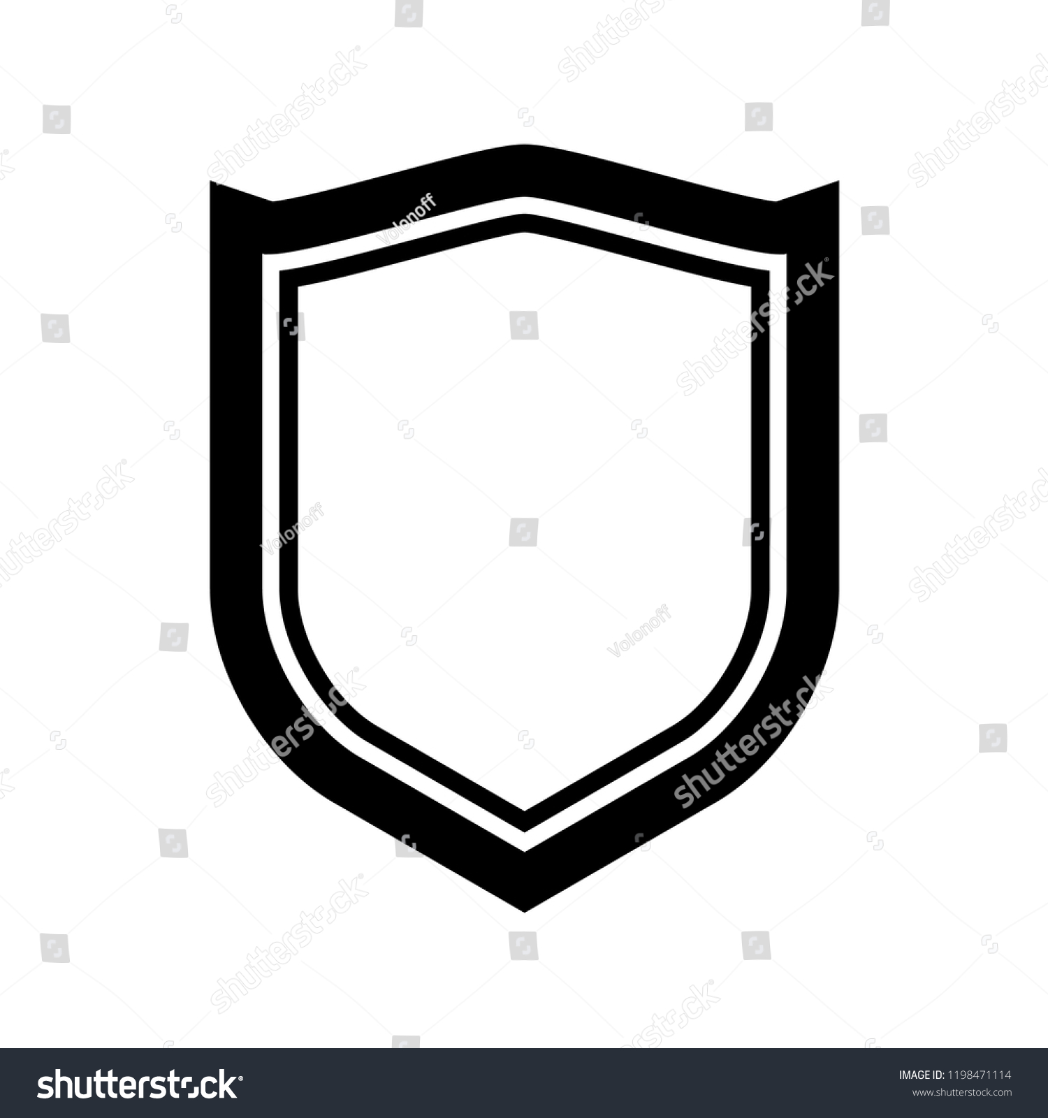 protect guard shield plain line concept stock vector (royalty free