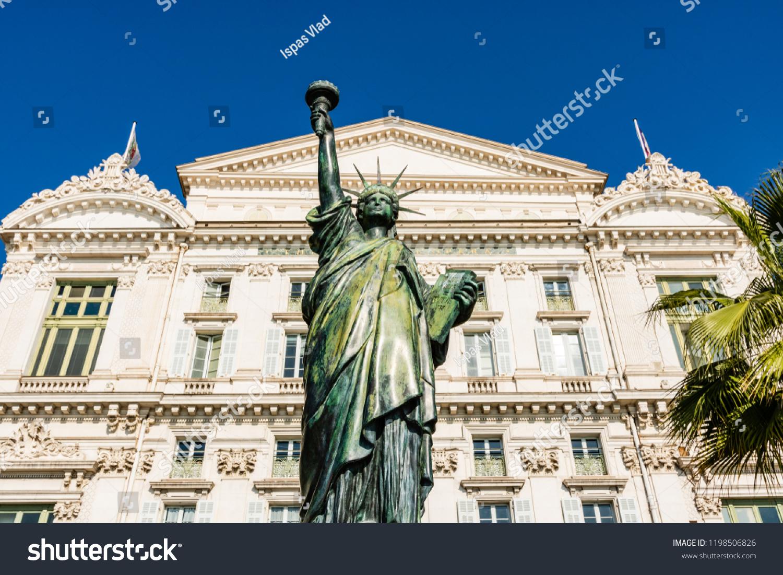 Nice France Circa 2018 Replica Statue Royalty Free Stock Image