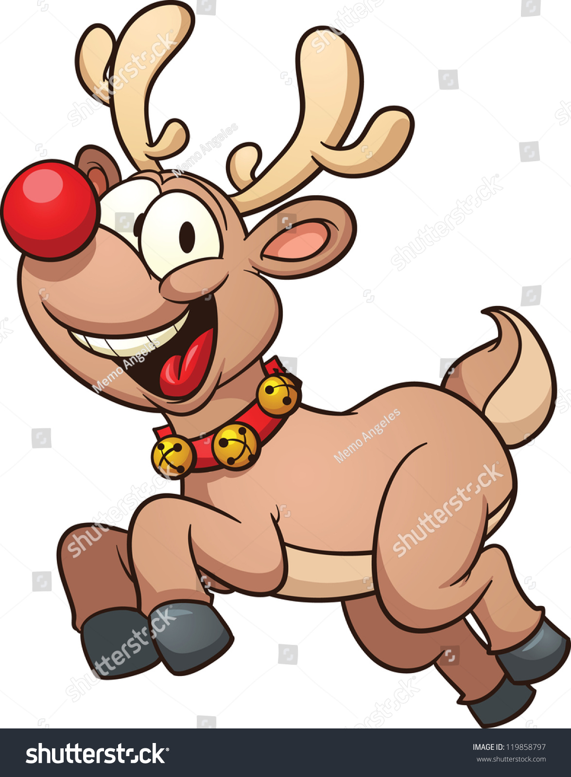 Cartoon reindeer cute cartoon reindeer vector clip art illustration