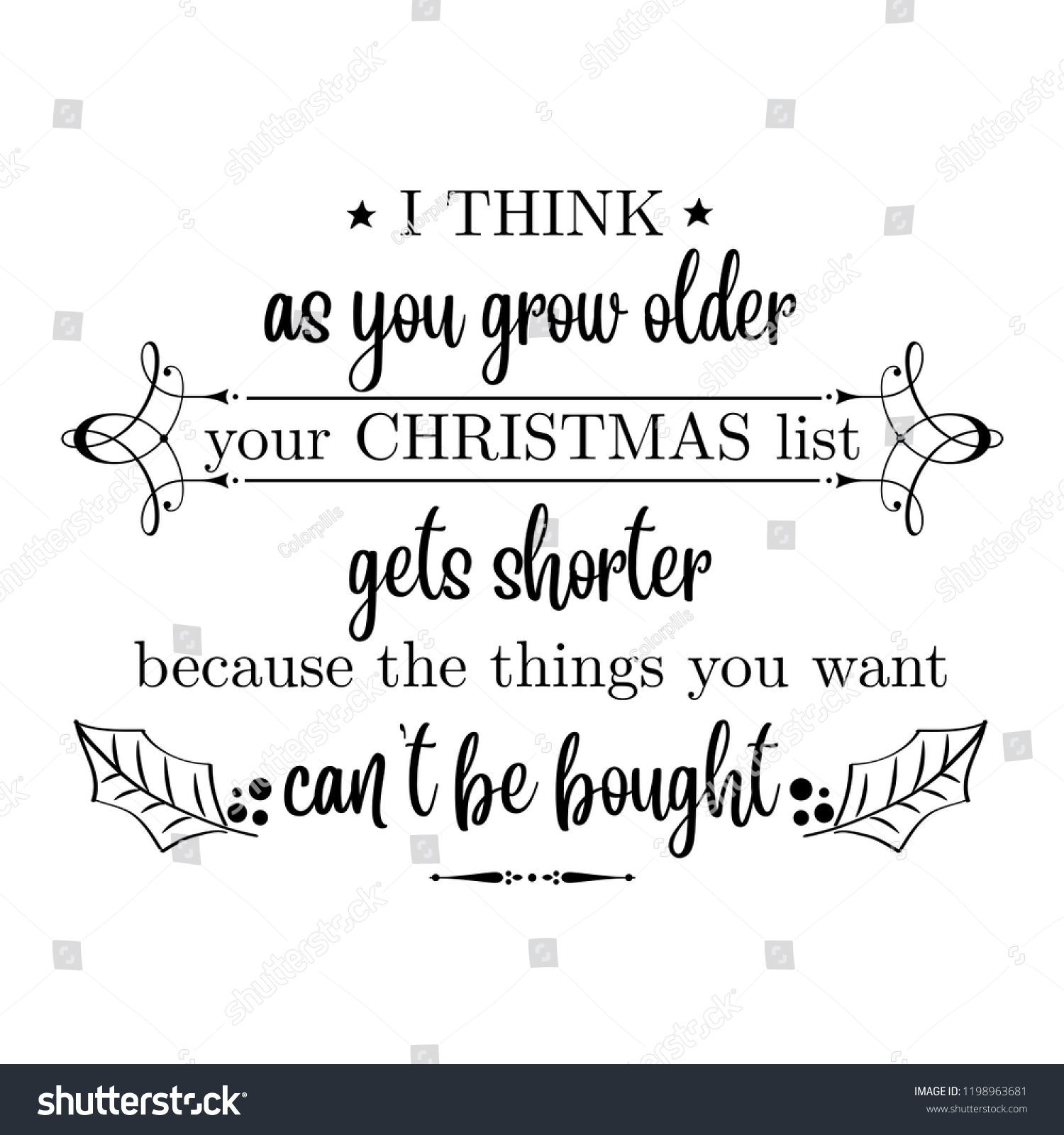 Think You Grow Older Your Christmas Stock Vector Royalty Free