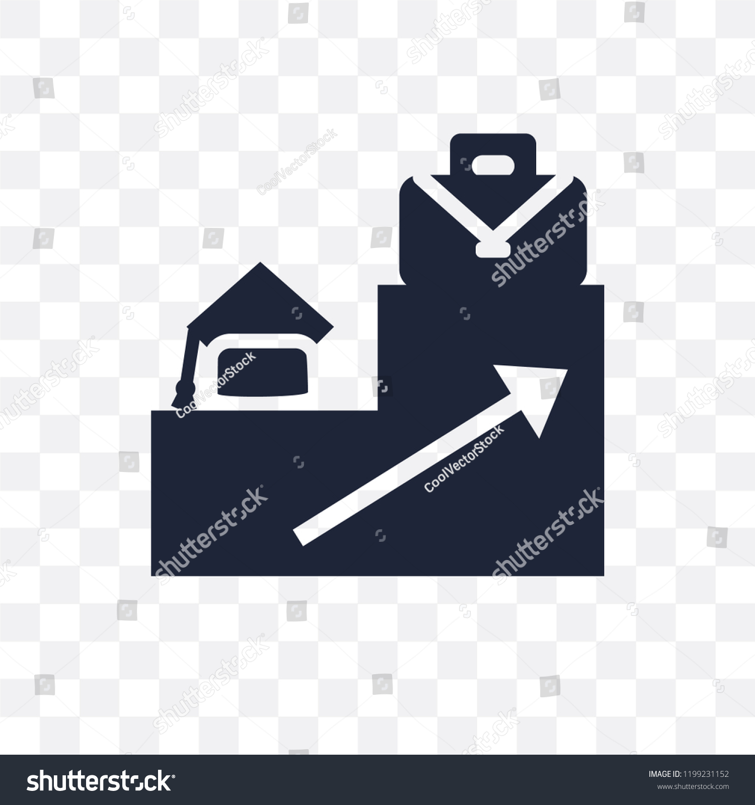 Career Ladder Transparent Icon Career Ladder Stock Vector Royalty Free 1199231152