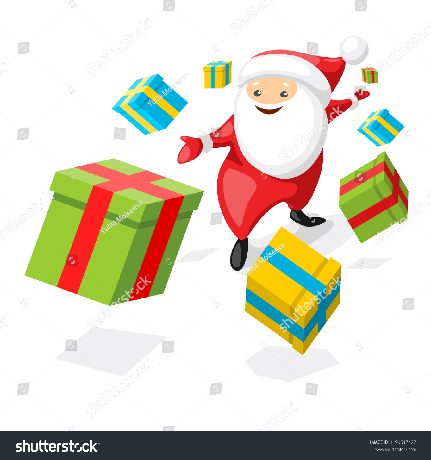 Concept Christmas Post Office Happy Santa Stock Vector (Royalty Free ...