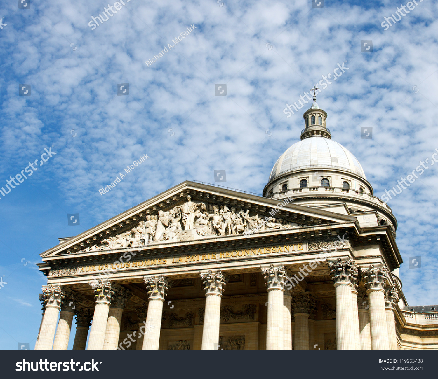 color dslr image pantheon paris france stock photo
