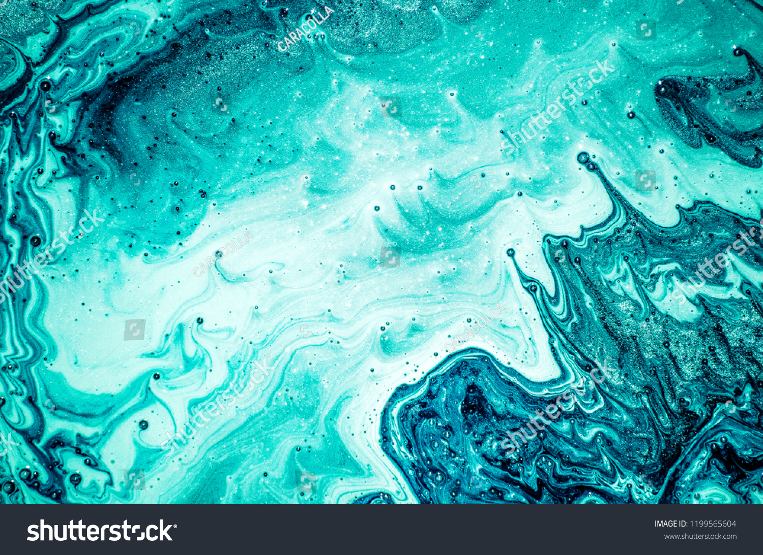 Aquamarine luxury art in Eastern style. Natural Pattern. Abstract artwork. Beautiful decor for invitation, greeting card, wallpaper, background. Style incorporates the swirls of marble. #1199565604