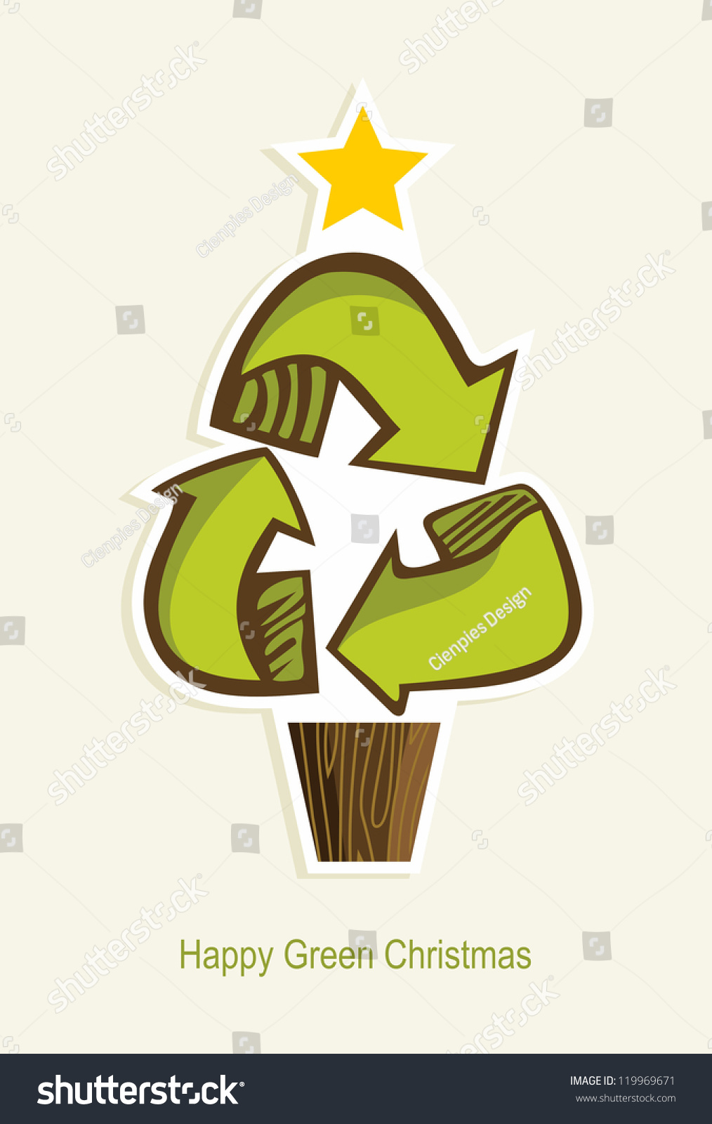 Green Recycle Symbol Christmas Tree Cartoon Stock Vector Royalty Free 119969671 Looking for christmas tree coloring pages this holiday season? https www shutterstock com image vector green recycle symbol christmas tree cartoon 119969671