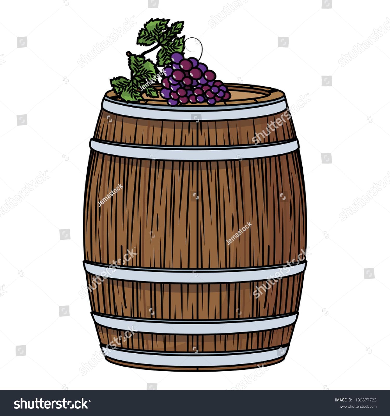 Cherries wine barrel art