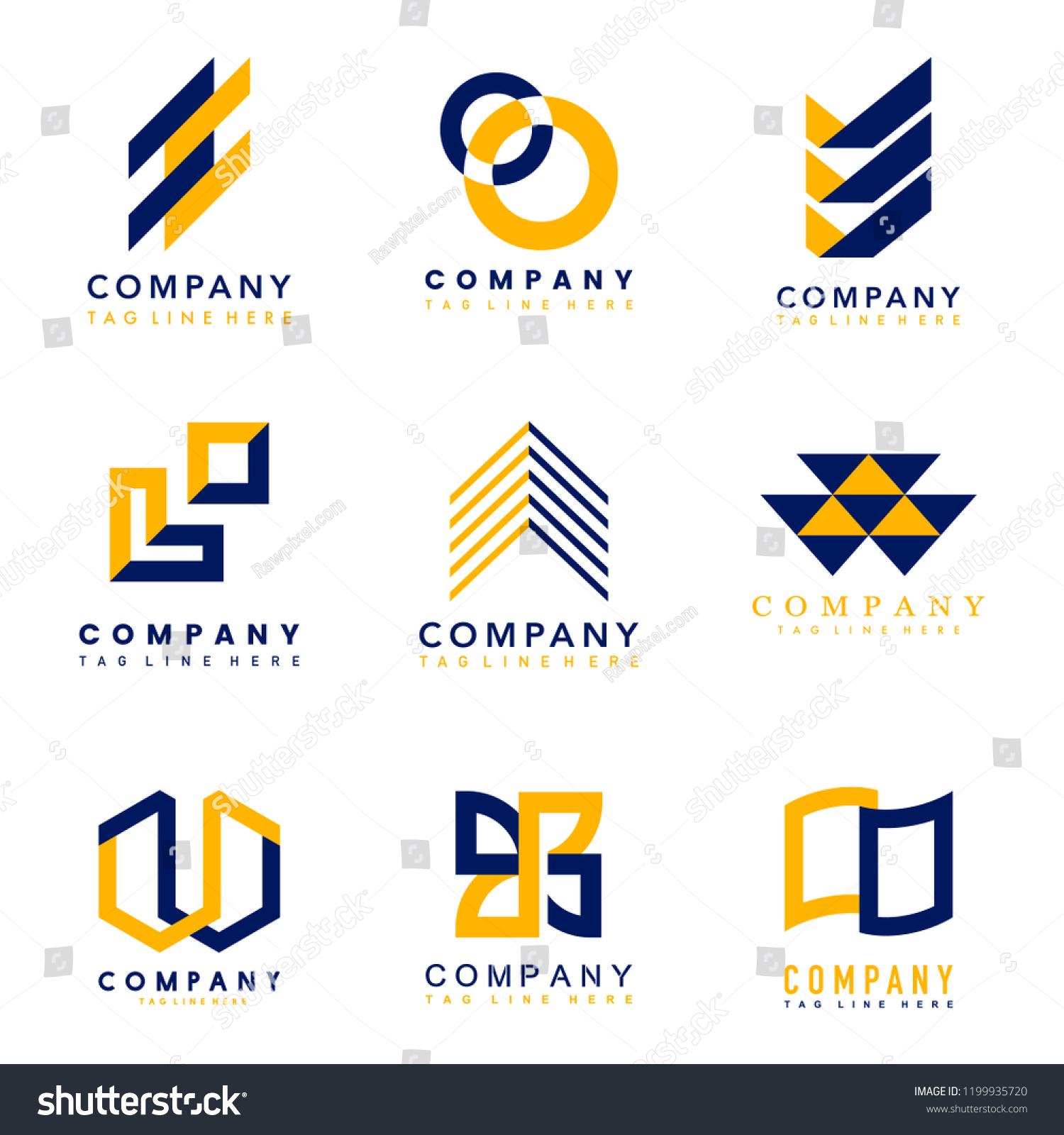 Set Company Logo Design Ideas Vector Stock Vector Royalty Free 1199935720,Design Your Own Mug Online