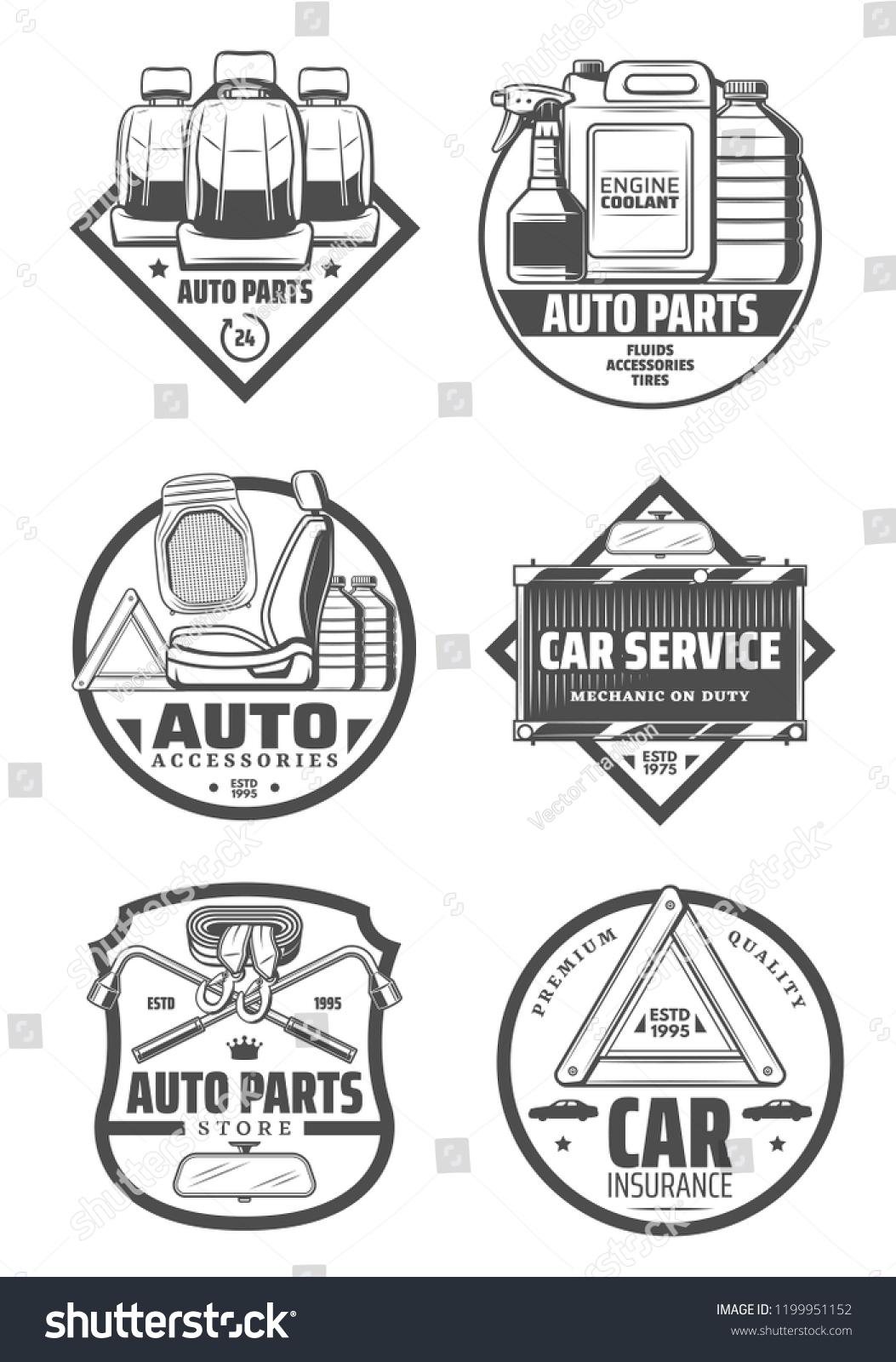 Car Service Store Spare Parts Shop เวกเตอร์สต็อก (ปลอดค่า