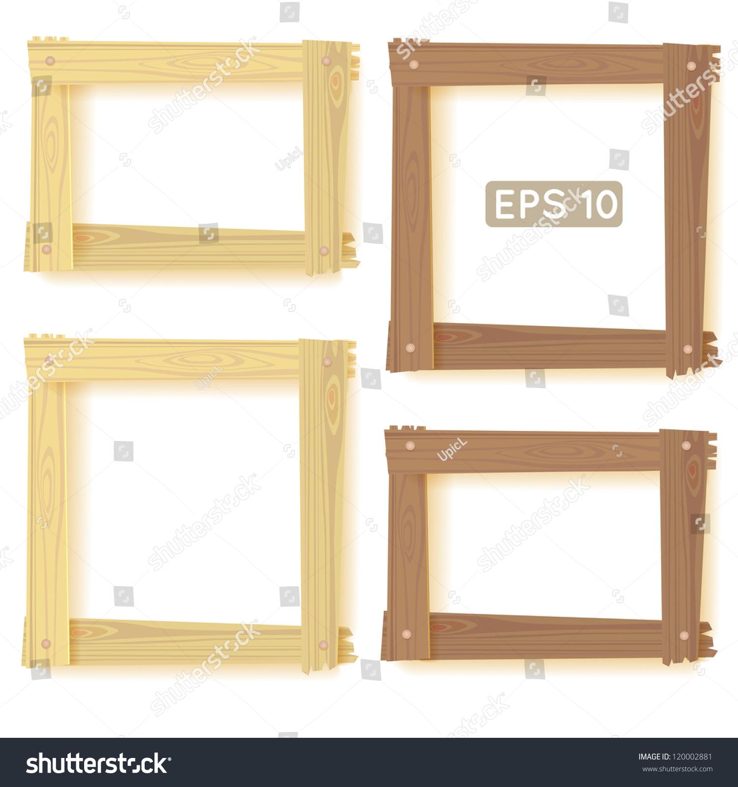 natural wood frames set picture - Natural Wood Frames