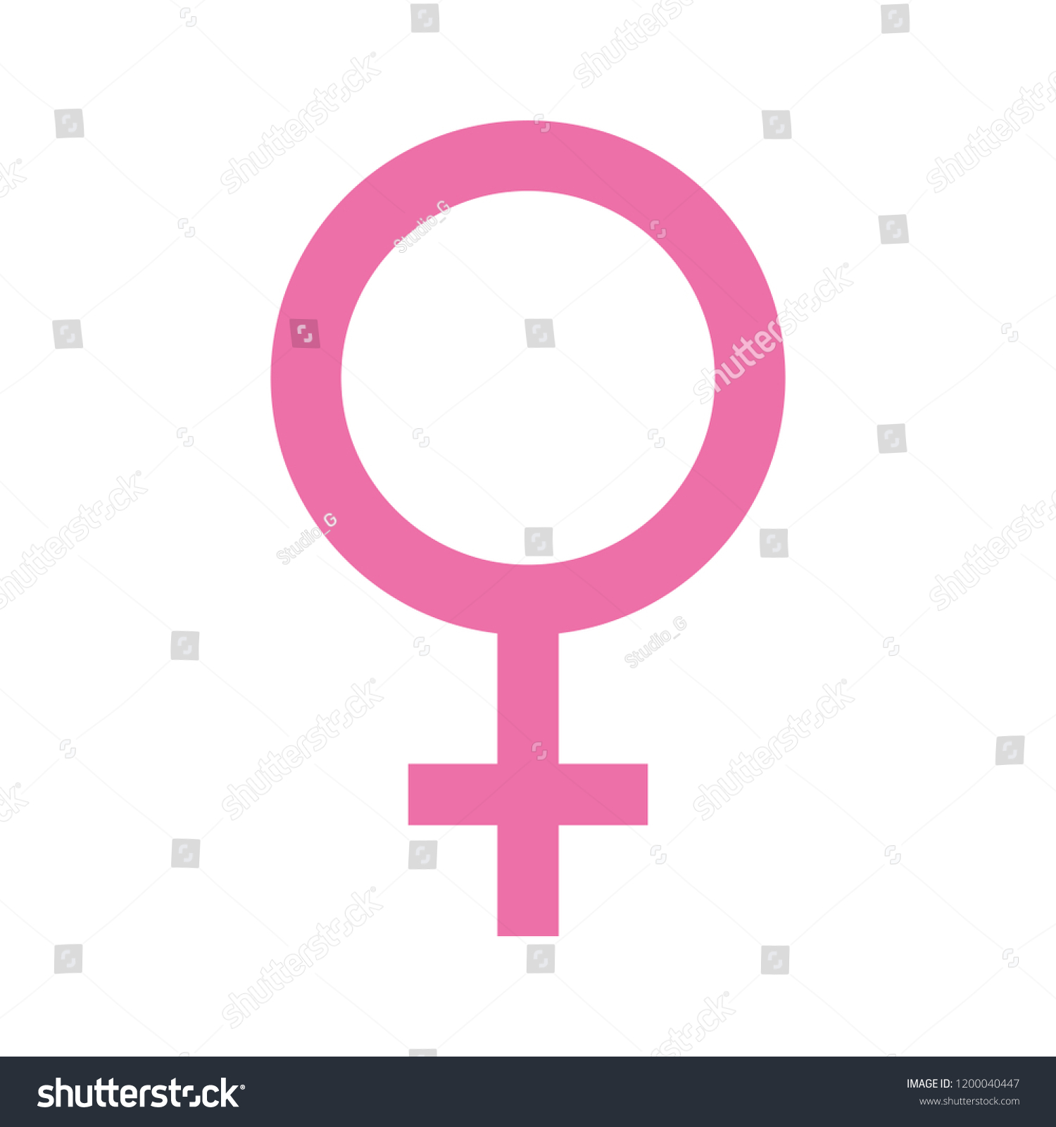 femenine gender symbol icon #1200040447