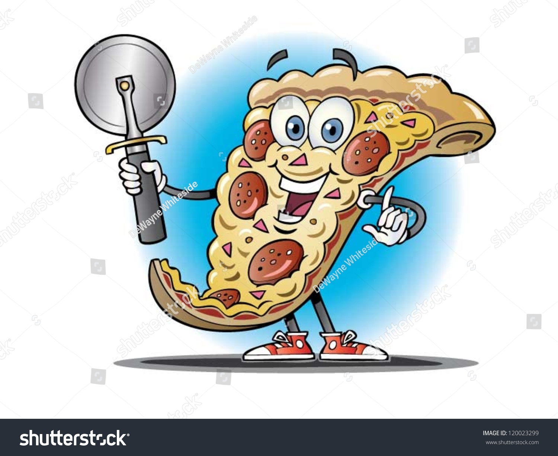 how to draw a cartoon pizza slice