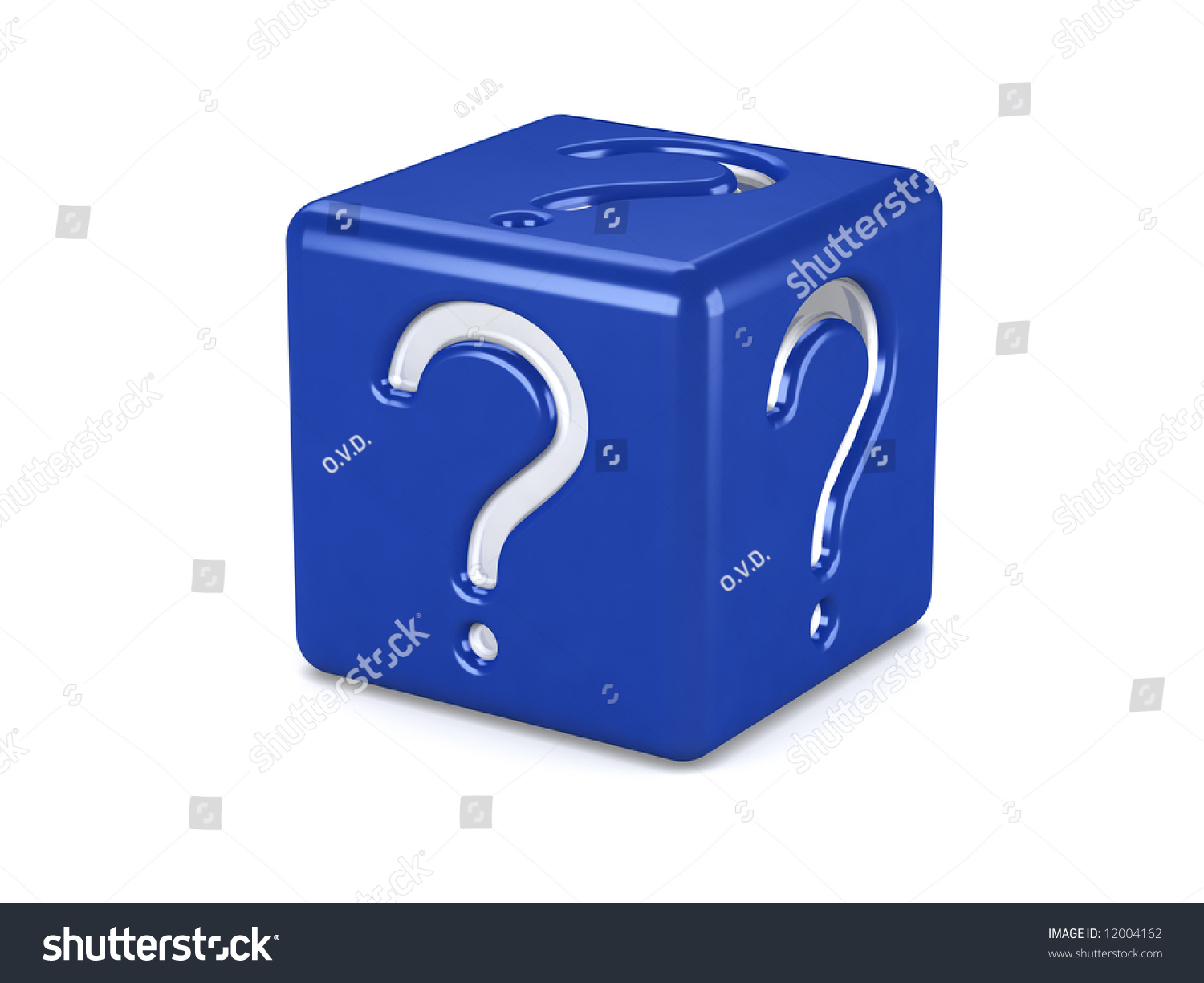 Blue Box Question Symbol Isolated On Stock Illustration 12004162