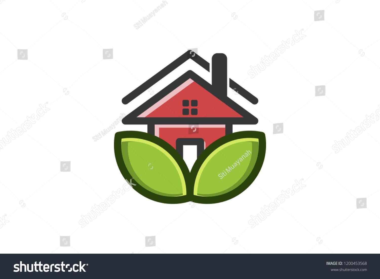 Eco House Logo Designs Inspiration Isolated Stock-Vektorgrafik