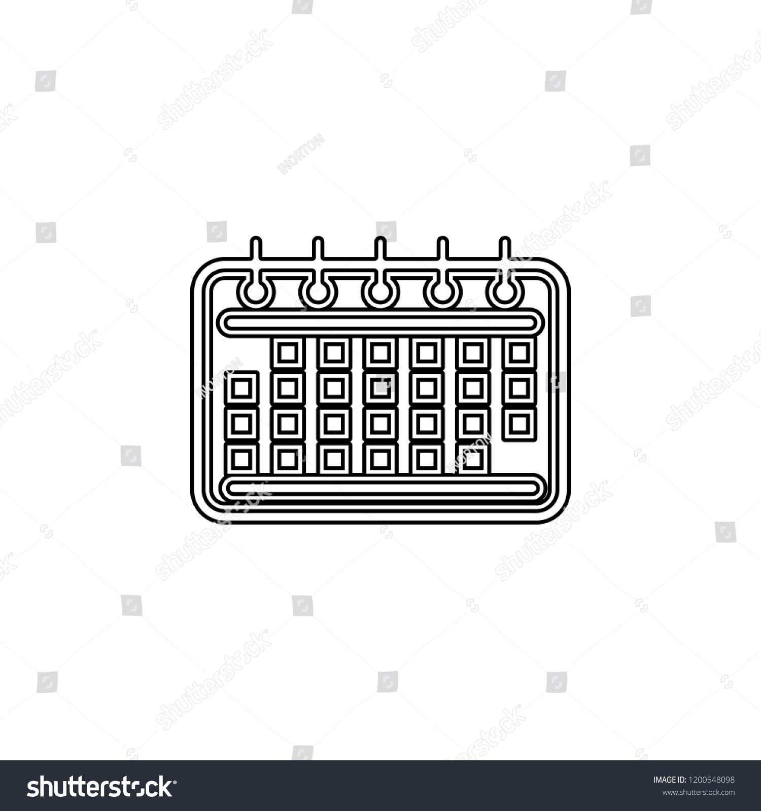 Calendar Almanac Menology Icon Simple Outline Stock Vector