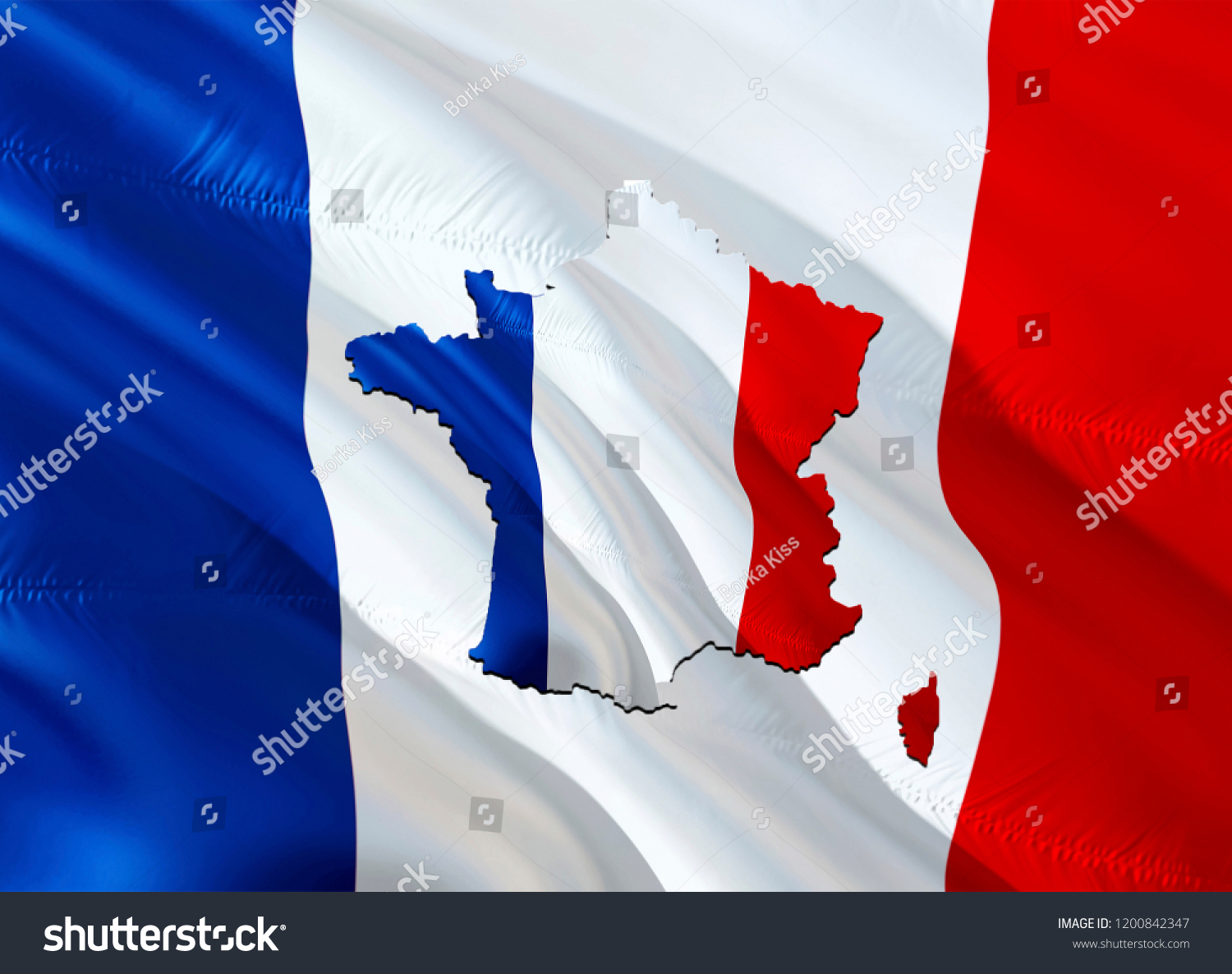 Map Of France Kisses.Flag Map France 3 D Rendering France Stock Illustration Royalty