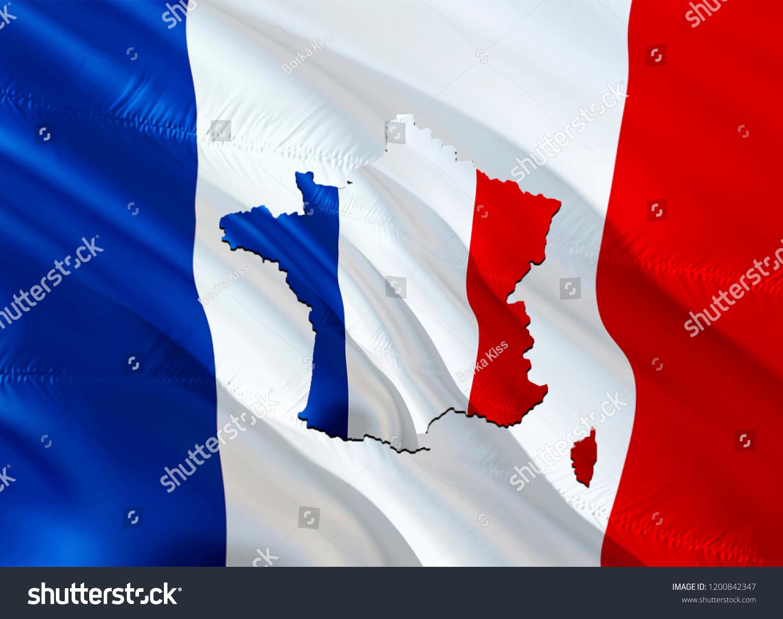 Map Of France Kisses.Flag Map France 3 D Rendering France Stock Illustration Royalty