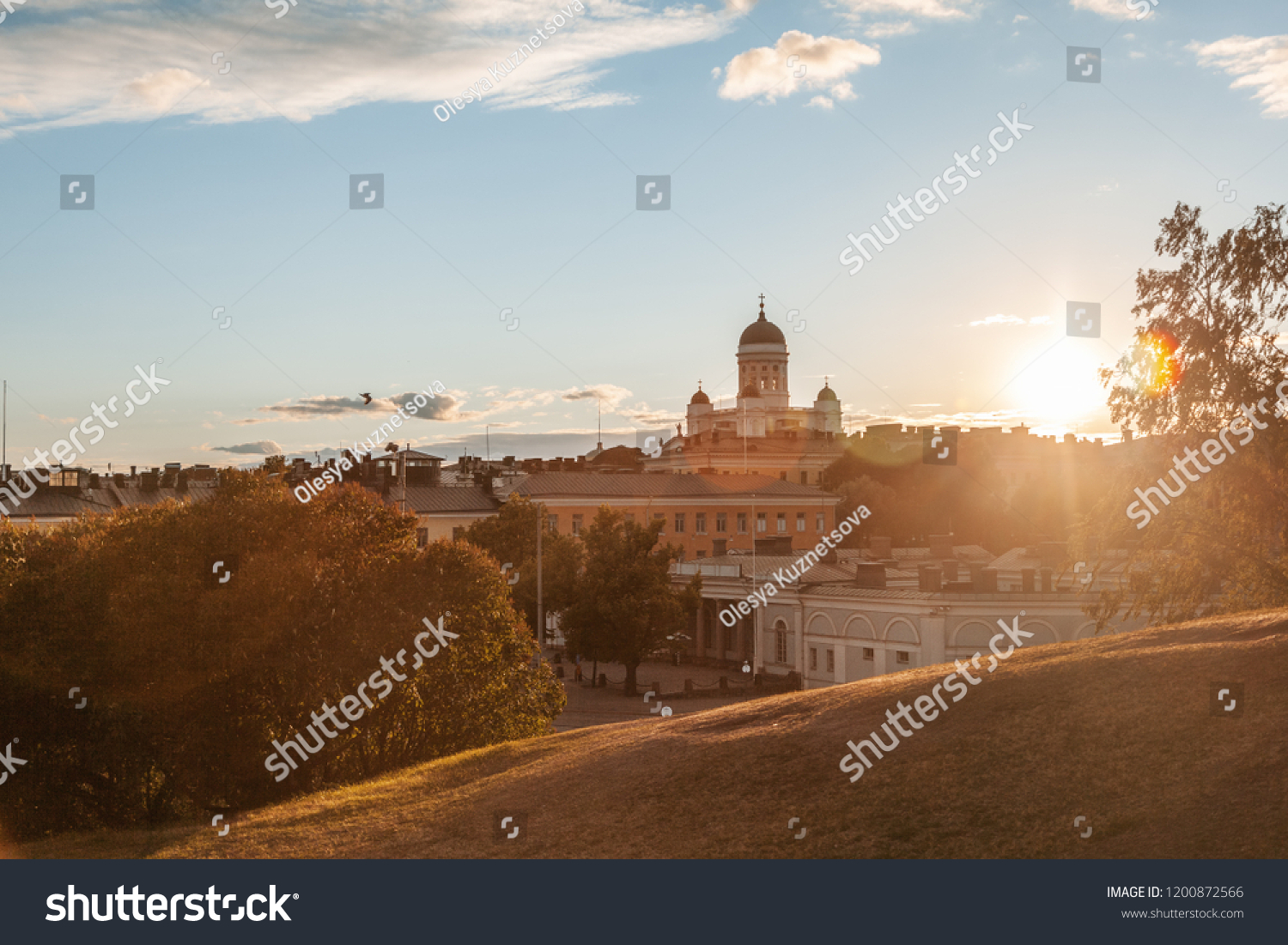 1e3f1ca84fd View Central Cathedral Helsinki Finland Sunset Stock Photo (Edit Now ...