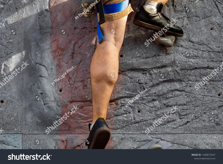 Close Calf Muscles Left Leg Regular Stock Photo Edit Now